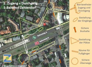 Bahnhofszugang vom Postplatz u. der Machnower